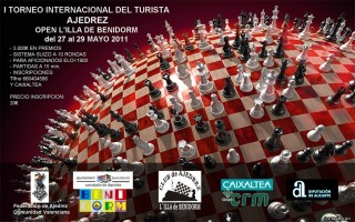 Cartel I Torneo de Ajedrez del Turista 2011