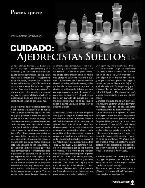 Poker y Ajedrez - Pokerlogia